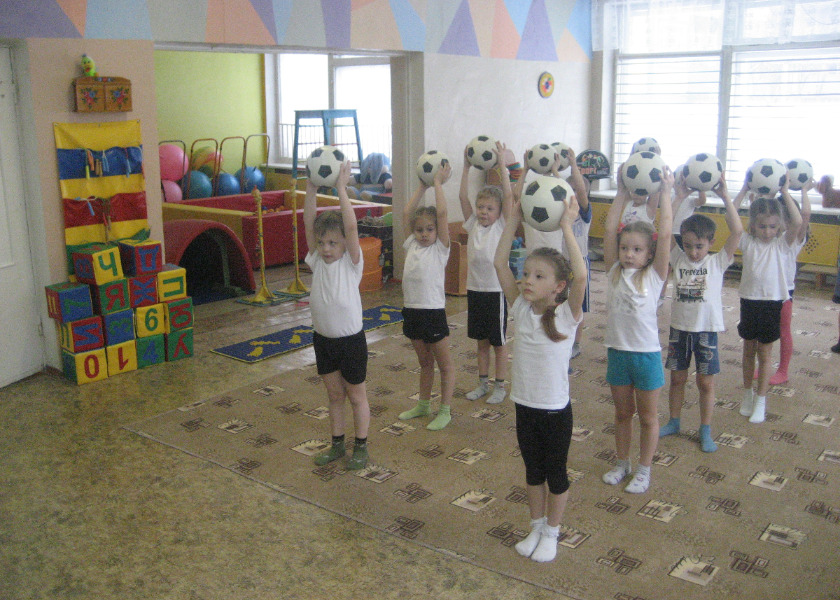 Утр гимнастика с лентами средняя группа